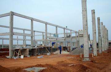 pré-moldado, estrutura de concreto, estrutura metálica, aviário, galpão, suinocultura