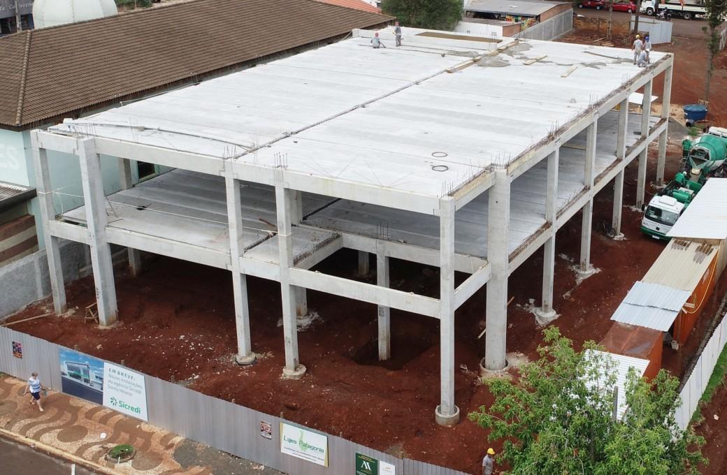 Agência do Sicredi em Santa Helena está sendo executada no sistema pré-fabricado