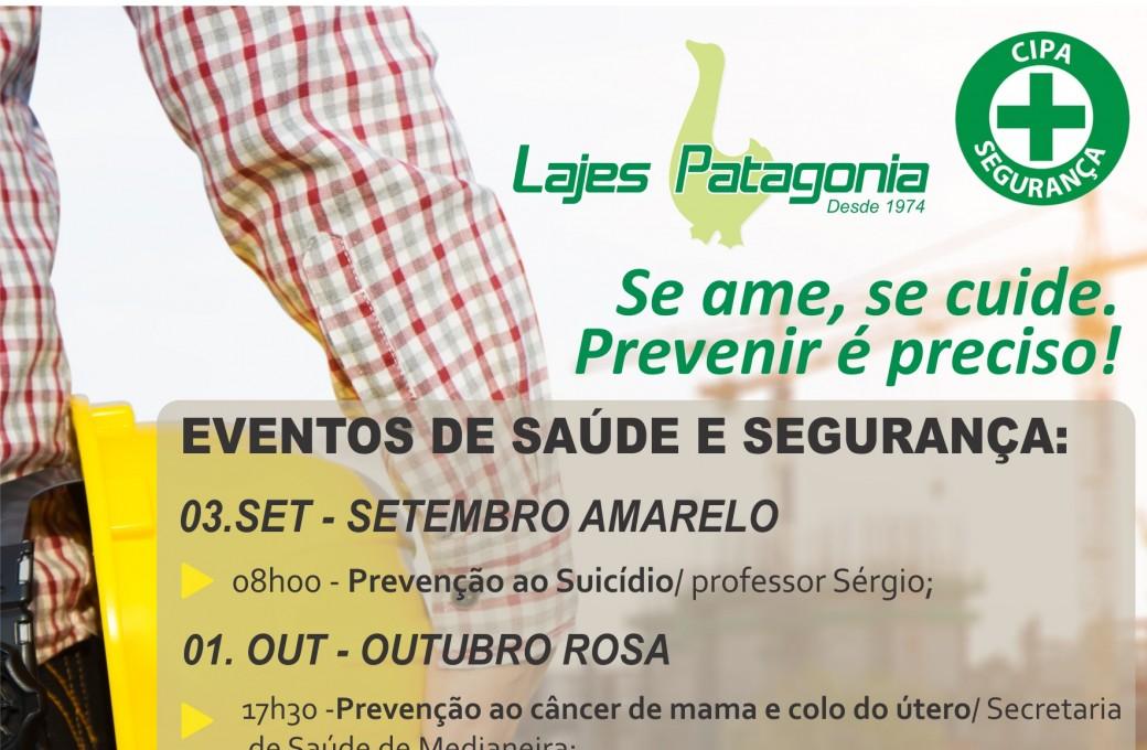 Lajes Patagonia prepara palestras e gincana para prevenir acidentes de trabalho e doenças ocupacionais