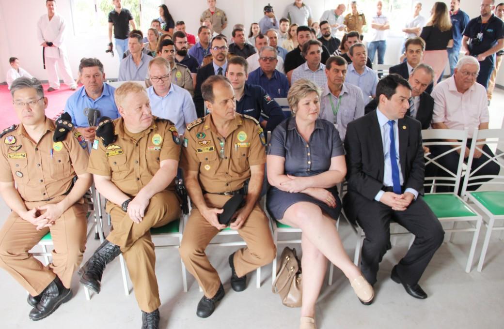Prédio que abrigará escolinha de Karatê foi inaugurado na Polícia Militar em Medianeira